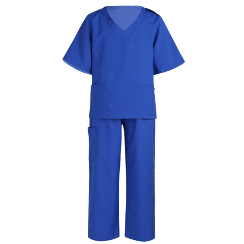 UK Kids Boys Girls Doctor Uniform Outfit Fancy Dress Cosplay Halloween Costume