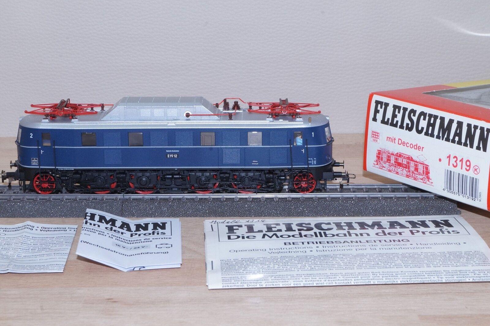 Fleischmann 1319 Locomotora Eléctrica Br E 19 12 de DB Altbau-Lok Digital AC