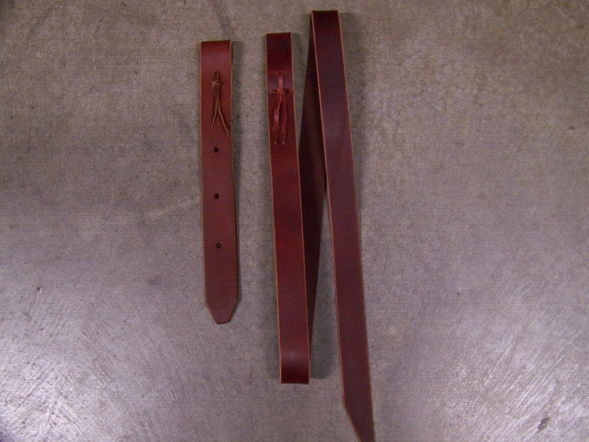 Leather Saddle Front Cinch Strap Set Saddle Latigo Tie & Off Billet Strap Set