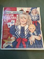 Sailor Collar Kit by Daisy Kingdom 4 Collars With Simplicity Patterns #7084