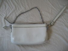SENSATION White Sac Vernis Blanc ID&T Party Shoulder Bag Chain Épaule Chaine
