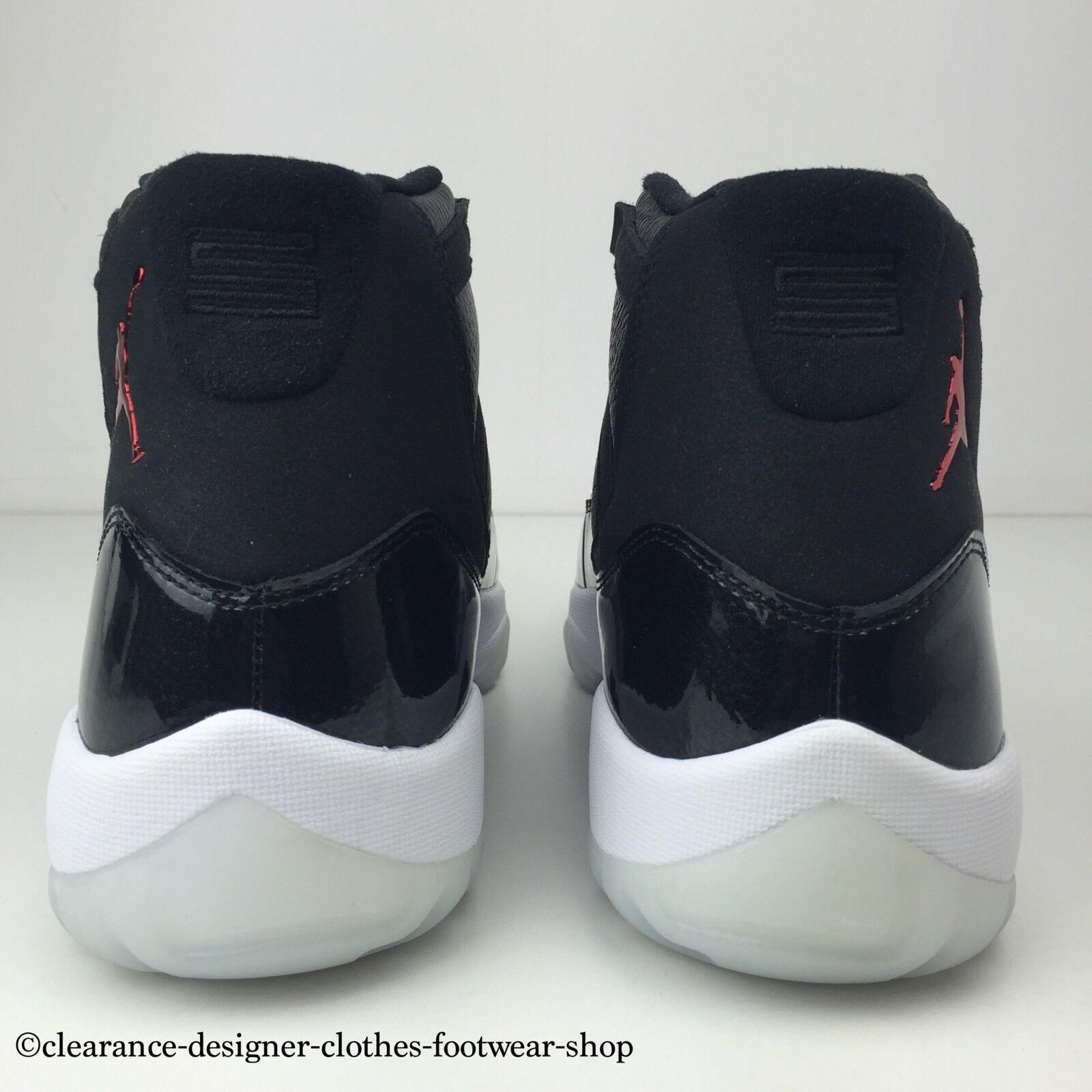 "NIKE AIR JORDAN Hommes 11 RETRO XI ""72-10"" TRAINERS Noir Hommes JORDAN NEW ChaussureS10 4219b2"
