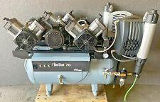 2010 Air Techniques Airstar 70 As70m Triple Head Oil Less Air Compressor 12 User