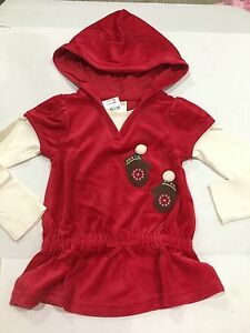Gymboree Girl's Ice Skating Red Shirt Size 6 New 26.95 Velour 2 In 1 Baby & Toddler Clothing