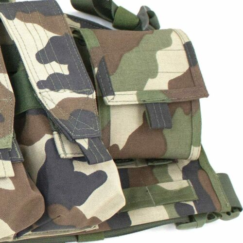 Bulldog Military Army Tactical Operator MOLLE Chest Rig Vest Carrier CE Woodland