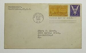 E18 - 1944 Special Delivery 17 Cent First Day Cover Washington DC Motorcycle