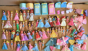 Lot of over 59 Disney Princesses Polly Pocket figures plus outfits