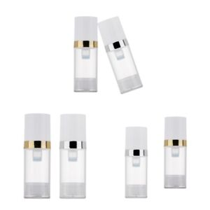 10ml-Travel-Empty-Airless-Pump-Clear-Bottle-Lotion-Cosmetic-Containers-6-Set
