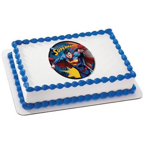 Superman Superhero Edible Cake OR Cupcake Toppers Decoration