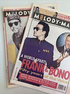 Melody Maker Magazines 20 Nov 1993 & July 31 1993 U2, Brett Anderson,Nick Cave,