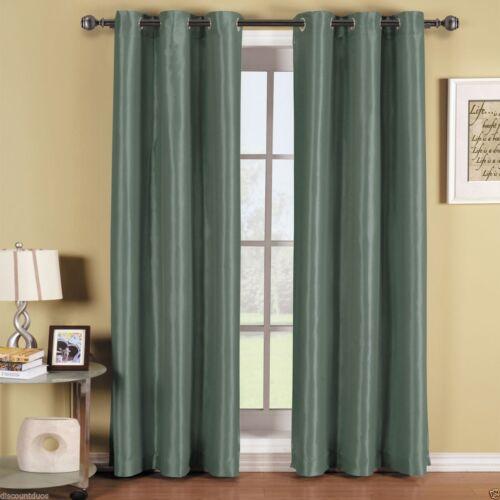 Soho Blue Grommet BLACKOUT Window Curtain Panel ALL SIZES