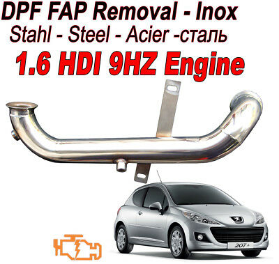 Downpipe DPF FAP Removal Jeep Wrangler 2.8 CRD 177 200 bhp Steal inox
