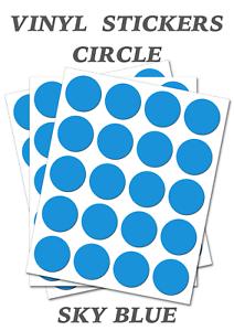 1000-Round-Sky-Blue-Circles-Self-Adhesive-Waterproof-Vinyl-Labels-size-25mm