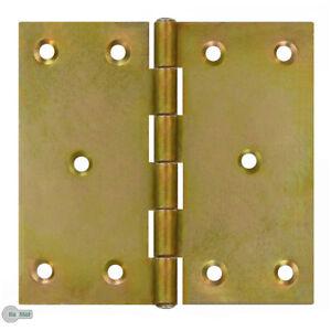 Anguleux-Charnieres-Ruban-de-Porte-100-x-100-X-2-0-MM-Jaune-Galvanise