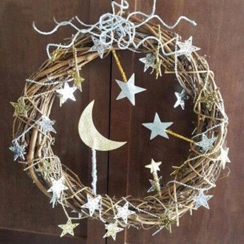 Christmas Natural Dried Rattan Wreath Garland Home Door Wall DIY Xmas Decor