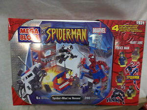 Marvel-Spider-Man-Mega-Bloks-unopened-tin-Spider-Man-vs-Venom