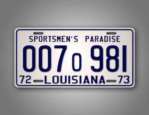 JAWS Movie Louisiana License Plate 1975 Shark Autopsy Replica Prop Auto Tag 1973