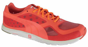 ae0597aff1c Puma Faas 100 R Glow Womens Peach Mesh Lace Running Trainers Shoes ...