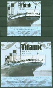 Mon ChéRi Tuvalu 2012-naufrage Du Titanic-navires-accident - 1816-18 + Bloc 181
