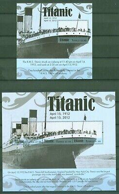Original Tuvalu 2012 - Untergang Der Titanic - Schiffe - Unglück - 1816-18 + Block 181 In Den Spezifikationen VervollstäNdigen