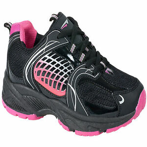 WOMENS BLACK CASUAL RUNNING JOGGING GYM TRAINERS SPORTS WALKING SHOES LADIES 3-8