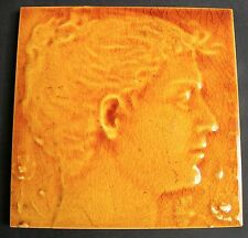 Rare Antique portrait tile (J C EDWARDS?) c1890