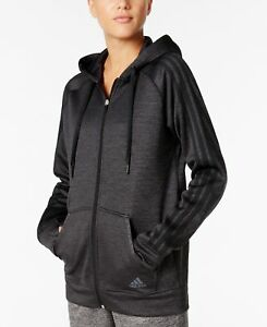 adidas-Women-039-s-Team-Issue-Fleece-Hoodie-Small-Black-Heather-NWT-MSRP-60
