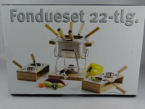 Domestic by Mäser fondueset Fondue 22 pièces inox bambou-NEUF!!!