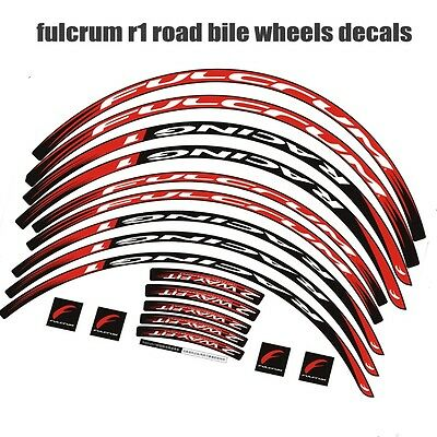 Wheel set Stickers for Road Bike bicycle 30 mm rim FULCRUM RACING 1 R 1 decals
