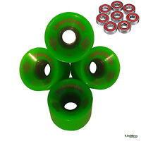 Cruiser Skateboard Wheels 59mm 84a Dog Town Add Reds Bearings Longboard Penny