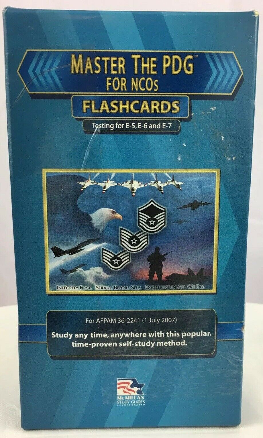 US Air Force Master The PDG Testing for NCO E 5 E 6 Flashcards 2015 Study