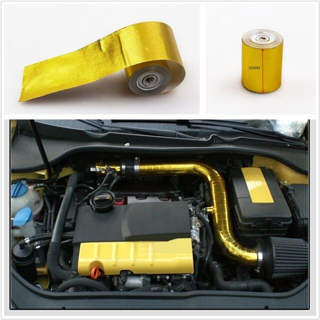Roll Turbo Engine Gold Tape High Performance Reflective Heat Protection 2/'x200/'/'