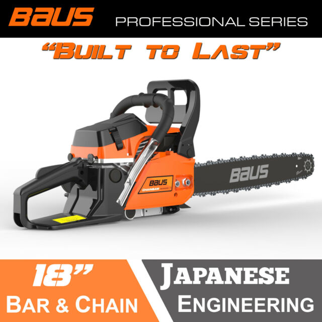 NEW BAUS 52cc Petrol Commercial Chainsaw 18