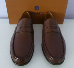 479d5a88a14 BROLETTO Teramo Mens Brown Leather Loafers Slip On Shoe Size 13 New ...