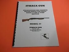 DETAILED ITHACA MODEL 37 & 87 PUMP SHOTGUN SPECIFICATIONS MANUAL, 20 PAGES