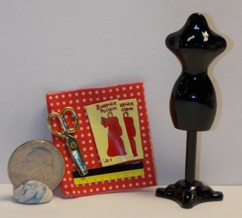 Dollhouse Miniature Sewing Set A Dress Maker 1:12 Inch Scale H20 Dollys Gallery