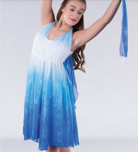 f237f86eb In Stock Floaty Blue White Mix Lyrical Modern Contemporary Dress ...