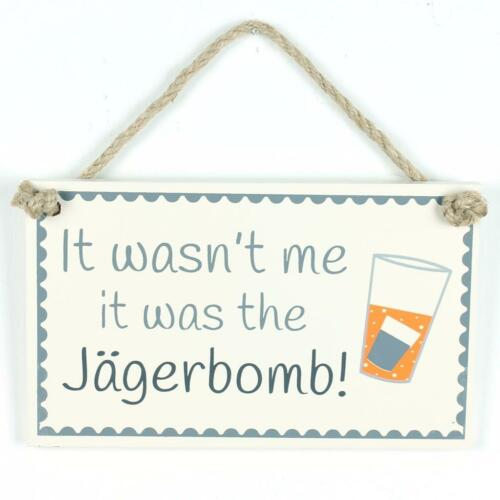 FUNNY ALCOHOL JAGERBOMB SIGN MESSAGE DOOR WALL PLAQUE SLATE HANGING HOME GIFT