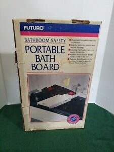 Futuro-Portable-Bath-Board-Seat-Plastic-Adjustable-Inside-Tub-Shower-Home-Safety