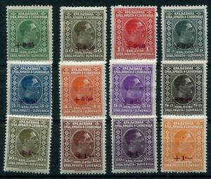 YUGOSLAVIA-1928-Cancelled-surcharges-definitive-set-MNH