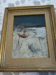 ORIGINAL-SIGNED-SOL-WILSON-OIL-ON-CANVAS-PAINTING-034-THE-BEACH-PROVINCETOWN-034-MASS