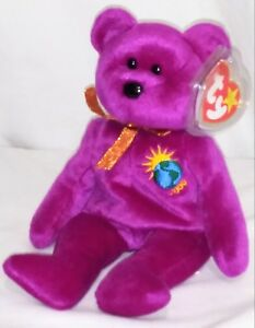 57a9e5fd9ee Image is loading RETIRED-Ty-Beanie-Baby-MILLENNIUM-BEAR-ERRORS-With-