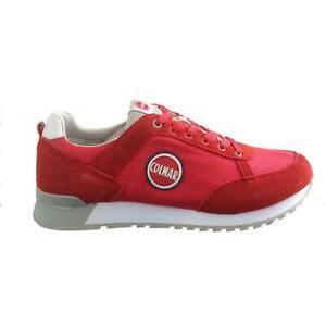 23f46c0004 Dettagli su Scarpe sportive uomo sneakers COLMAR Travis Color 010 rosso in  tela