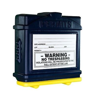 EZ Permit Box 100/% Recyclable All Weatherproof Permit Box Made in the USA!