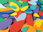 Eva Foam Shapes Bumper Pack 720 pieces Assorted Colours /& Shapes