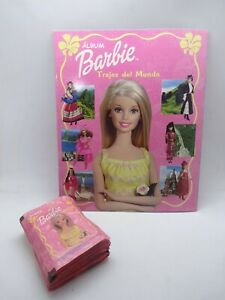 2002 barbie sticker album and packs x50 barbie world costumes trajes del mundo
