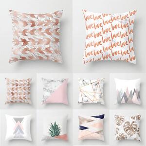 New-1X-Rose-Gold-Geometric-Pillow-Case-Sofa-Cushion-Cover-Car-Home-Decor-Fashion