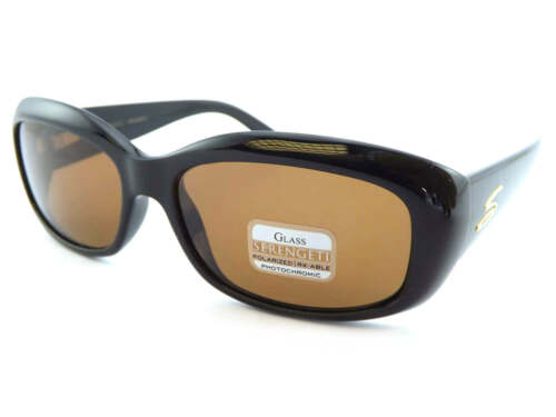 SERENGETI Womens Polarised Photochromic Bianca Sunglasses Black Drivers 7368
