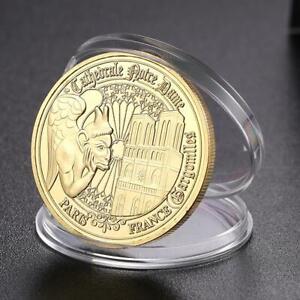 Notre-Dame-de-Paris-Gold-Plated-Commemorative-Coin-Souvenir-Collection-Art-Kit