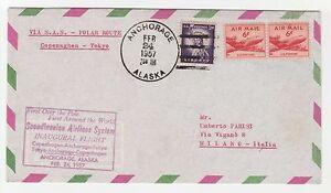 STORIA-POSTALE-AEREA-1957-USA-3-VALORI-SU-AEROGRAMMA-POLAR-ROUTE-Z-5221